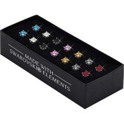 Kolczyki damskie: Pozłacane kolczyki (7 par) z kryształami Swarovski