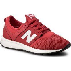 Sneakersy NEW BALANCE - KL247CCG Czerwony. Czerwone trampki chłopięce New Balance, z materiału, na sznurówki. W wyprzedaży za 199,00 zł.