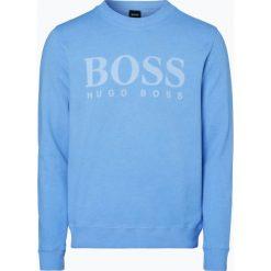 Bejsbolówki męskie: BOSS Casual - Męska bluza nierozpinana – Wallker, niebieski