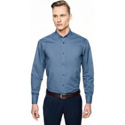 Koszula bexley 2629 długi rękaw custom fit granatowy. Szare koszule męskie marki Recman, na lato, l, w kratkę, button down, z krótkim rękawem. Za 69,99 zł.