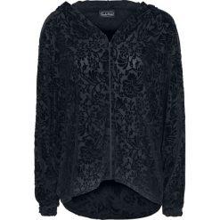 Odzież damska: Jawbreaker Black Burnout Batwing Hoodie Bluza z kapturem rozpinana damska czarny