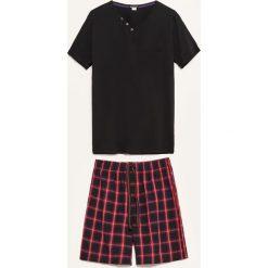 Piżama dwuczęściowa z szortami - Czarny. Czarne piżamy męskie Reserved, l. Za 59,99 zł.