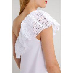 Sukienki hiszpanki: Abercrombie & Fitch ONE SHOULDER EYELET Sukienka letnia white