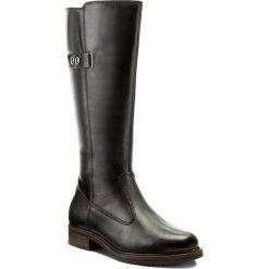 Oficerki TAMARIS - 1-26542-29 Black 001. Czarne buty zimowe damskie Tamaris, ze skóry, na obcasie. W wyprzedaży za 239,00 zł.