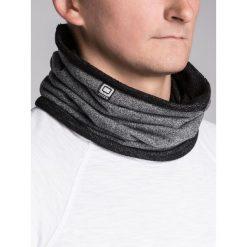 KOMIN MĘSKI A063 - GRAFIT/MELANŻ. Szare szaliki męskie Ombre Clothing, melanż, z bawełny. Za 14,99 zł.