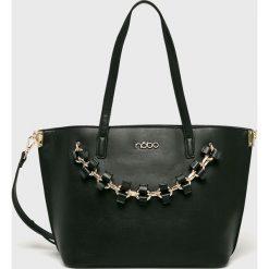 Nobo - Torebka. Brązowe torebki klasyczne damskie marki Nobo, w paski, z materiału, średnie. W wyprzedaży za 189,90 zł.
