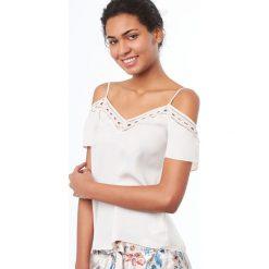 Etam - Top piżamowy Mimosa. Niebieskie piżamy damskie marki Etam, l, z bawełny. W wyprzedaży za 69,90 zł.