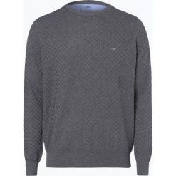 Swetry klasyczne męskie: Fynch Hatton – Sweter męski, szary