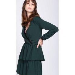 Ciemnozielona Sukienka Deep Love. Zielone sukienki hiszpanki Born2be, s, wizytowe. Za 79,99 zł.