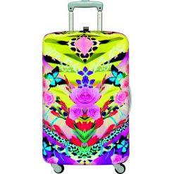 Pokrowiec na walizkę LOQI Flower Dream. Brązowe walizki LOQI, z elastanu. Za 114,00 zł.