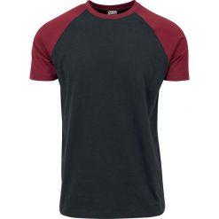 Urban Classics Raglan Contrast Tee T-Shirt czarny/burgund. Niebieskie t-shirty męskie marki Urban Classics, l, z okrągłym kołnierzem. Za 42,90 zł.