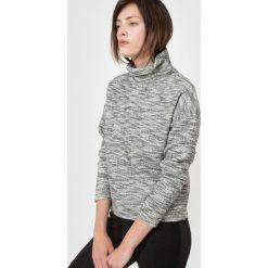 Sweter melanżowy z golfem. Szare golfy damskie marki La Redoute Collections, m, z bawełny, z kapturem. Za 103,91 zł.