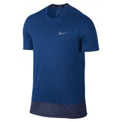 Nike Koszulka Do Biegania M Nk Brthe Rapid Top Ss L. Niebieskie koszulki do biegania męskie Nike, l, z krótkim rękawem, dri-fit (nike). W wyprzedaży za 79,00 zł.