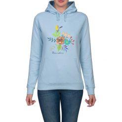 Bluza damska. Kwiaty i ptaki. Niebieskie bluzy z kapturem damskie marki Pakamera, w kwiaty. Za 119,00 zł.