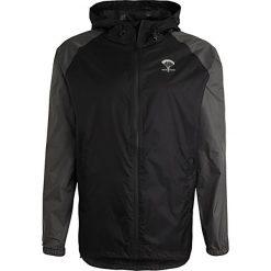 Packmack FULL ZIP Kurtka przeciwdeszczowa black/asphalt. Czarne kurtki męskie Packmack, l, z materiału. W wyprzedaży za 233,35 zł.