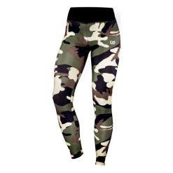 Spodnie damskie: Bodypak Legginsy damskie WMN Army zielone r. M (BOD/159)