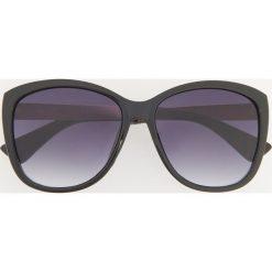 Okulary przeciwsłoneczne - Czarny. Czarne okulary przeciwsłoneczne damskie lenonki Reserved. Za 39,99 zł.