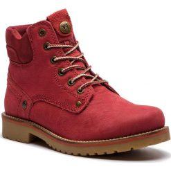 Trapery WRANGLER - Yuma Lady WL182507 Red 87. Czerwone buty zimowe damskie Wrangler, z materiału. W wyprzedaży za 279,00 zł.