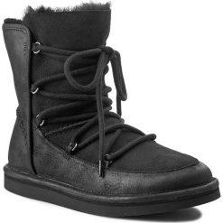 Buty UGG - W Lodge 1007710 Black. Szare buty zimowe damskie marki Ugg, z materiału, z okrągłym noskiem. W wyprzedaży za 769,00 zł.