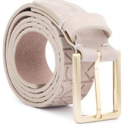 Pasek Damski CALVIN KLEIN - Logo Embossed Belt N K60K604326 75 002. Brązowe paski damskie Calvin Klein, w paski, z nubiku. Za 249,00 zł.
