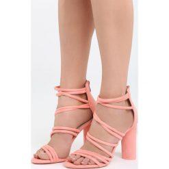 Różowe Sandały Ginny's Picture. Czerwone sandały damskie na słupku marki Born2be, z materiału, na wysokim obcasie. Za 89,99 zł.