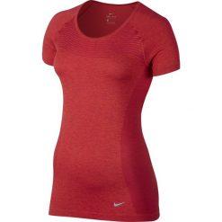 Bluzki asymetryczne: koszulka do biegania damska NIKE DRI-FIT KNIT / 718569-620 - NIKE DRI-FIT KNIT