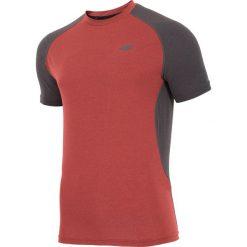 Odzież termoaktywna męska: Koszulka treningowa męska TSMF205 - czerwony melanż