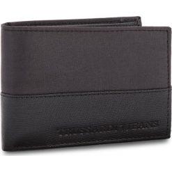 Duży Portfel Męski TRUSSARDI JEANS - Wallet Credit Card Coin Pocket 71W00004 K299. Czarne portfele męskie marki Trussardi Jeans, z jeansu. W wyprzedaży za 219,00 zł.