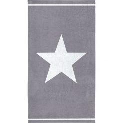 """Kąpielówki męskie: Ręcznik plażowy """"Star"""" w kolorze szaroniebiesko-białym"""