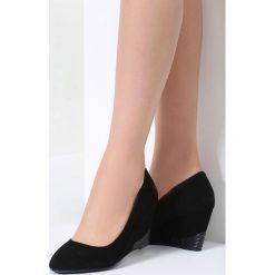 Czarne Koturny Slow Down. Czarne buty ślubne damskie vices, na koturnie. Za 79,99 zł.