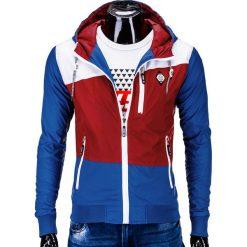 KURTKA MĘSKA PRZEJŚCIOWA WIATRÓWKA C201 - CZERWONA. Czerwone kurtki męskie przejściowe marki Ombre Clothing, m, moro, z nylonu. Za 89,00 zł.
