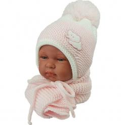 Czapka niemowlęca z szalikiem CZ+S 045B. Szare czapeczki niemowlęce Proman. Za 40,78 zł.