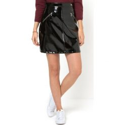 Minispódniczki: Spódnica trapezowa winylowa