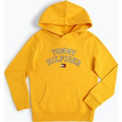 Bluzy chłopięce: Tommy Hilfiger - Chłopięca bluza nierozpinana, żółty