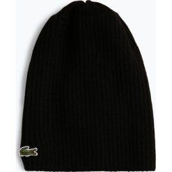 Lacoste - Czapka męska z wełny merino, czarny. Czarne czapki męskie Lacoste, z wełny. Za 129,95 zł.