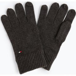 Tommy Hilfiger - Rękawiczki męskie z dodatkiem kaszmiru, czarny. Czarne rękawiczki męskie TOMMY HILFIGER, z bawełny. Za 179,95 zł.