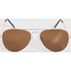 Okulary przeciwsłoneczne - Brązowy. Szare okulary przeciwsłoneczne damskie lenonki marki ORAO. Za 19,99 zł.