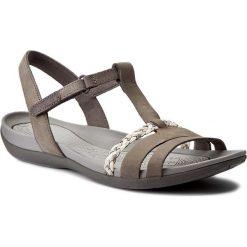 Sandały damskie: Sandały CLARKS – Tealite Grace 261238974 Dark Grey Nubuck