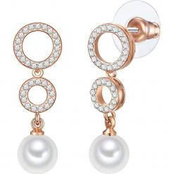 Kolczyki z perłami. Żółte kolczyki damskie Pearls Special, z kryształem, szklane. W wyprzedaży za 58,95 zł.