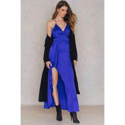 Długie sukienki: Passion Fusion Sukienka Bieliźniana Maxi - Blue