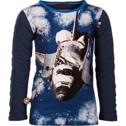 """Koszulka """"The Shuttle Awaits"""" w kolorze granatowym. Białe t-shirty chłopięce z długim rękawem marki UP ALL NIGHT, z bawełny. W wyprzedaży za 92,95 zł."""
