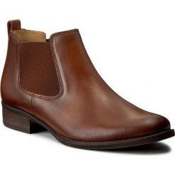 Sztyblety GABOR - 71.640.22 Sattel. Brązowe buty zimowe damskie marki Gabor, z materiału, na obcasie. W wyprzedaży za 339,00 zł.