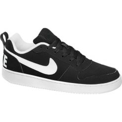 Buty męskie Nike Court Borough Low NIKE czarno-białe. Czarne buty sportowe męskie marki Nike, z materiału, nike tanjun. Za 239,90 zł.