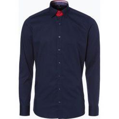 Koszule męskie na spinki: Olymp Level 5 – Koszula męska łatwa w prasowaniu, niebieski