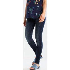 MAMALICIOUS MLAUGUSTA Jeansy Slim Fit dark blue denim. Niebieskie jeansy damskie MAMALICIOUS, z bawełny. W wyprzedaży za 186,75 zł.