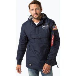 Alpha Industries - Kurtka męska, niebieski. Czarne kurtki męskie marki Alpha Industries, m, z aplikacjami. Za 899,95 zł.