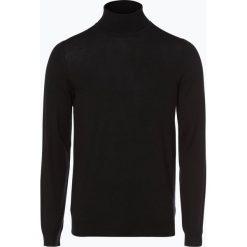 Swetry klasyczne męskie: Finshley & Harding London – Sweter męski, czarny