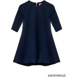 Sukienka dresowa dziecięca typu klosz granat. Różowe sukienki dziewczęce marki Pakamera, z długim rękawem, długie. Za 69,00 zł.