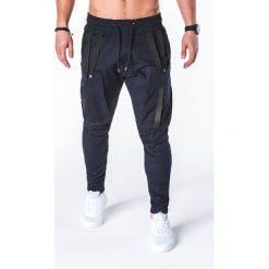SPODNIE MĘSKIE JOGGERY P671 - GRANATOWE. Niebieskie joggery męskie Ombre Clothing. Za 89,00 zł.