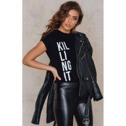 T-shirty damskie: Josefin Ekström for NA-KD T-shirt Killing It – Black